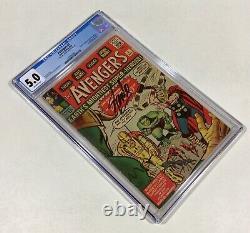 Avengers #1 CGC 5.0 MEGA KEY! Stan Lee sig! (1st Avengers & Origin!) 1963 Marvel