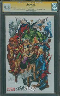 Avengers #1 CGC 9.8 SS Stan Lee, J Scott Campbell variant Stan Lee Edition color