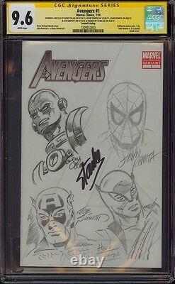 Avengers 1 Cgc 9.6 5x Ss 4x Sketch Romita Colan Trimpe Sinnott Signed Stan Lee