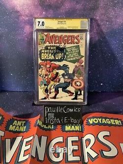 Avengers #10 Marvel Comic CGC 7.0 Stan Lee Signed 1st Immortus-Kang Thor Kirby