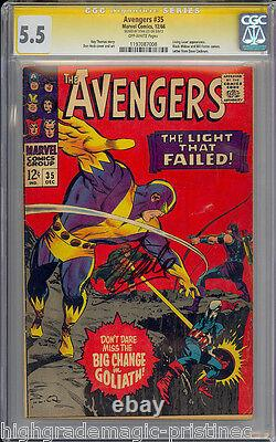 Avengers #35 Cgc 5.5 Ss Stan Lee Signed Sig Series Cgc #1197087008