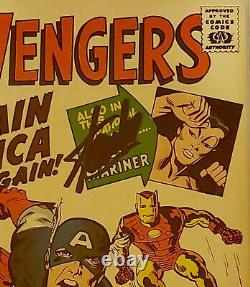 Avengers #4 1st Silver Age Captain America GRR CGC SS 7.5 Signed By Stan Lee