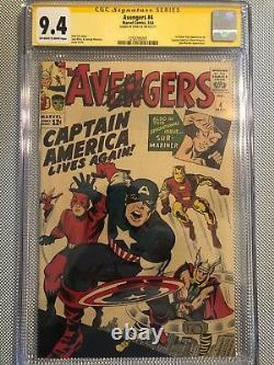 Avengers 4! Cgc 9.4! Sig. Series Signed Stan Lee! Highest Graded! 1 Of 4