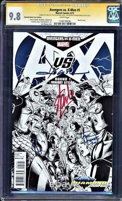 Avengers Vs X-men # 1 Cgc 9.8 Ss Perfect Stan Lee Signature 4x Multiple Copies
