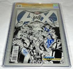 Avengers vs X-Men #1 CGC SS 3x Signature Autograph STAN LEE Diamond Select Comic
