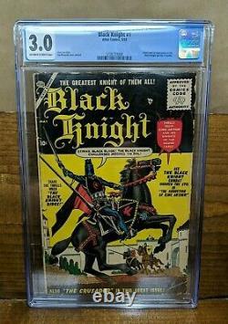 BLACK KNIGHT 1 (Atlas May 1955) Stan Lee Joe Maneely CGC 3.0 OWW Origin KEY