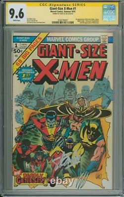 Beautiful Cgc Ss 9.6 Giant Size X-men #1 White Pages Signed By Stan Lee