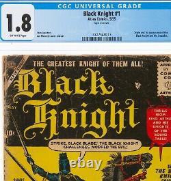 Black Knight #1 1955, Atlas, Stan Lee CGC 1.8 1st App Black Knight & Ebony Blade