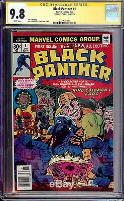Black Panther #1 CGC 9.8 Marvel 1977 STAN LEE SIGNATURE! Signed! SS! L9 211 cm