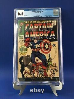 CAPTAIN AMERICA 100 CGC 6.5 Stan Lee Kirby Black Panther App Newly Graded! Rare
