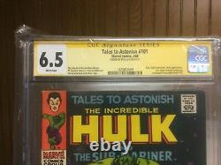 CGC signature series 6.5 White pages Tales to Astonish #101 signed by STAN LEE L
