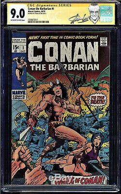 Conan The Barbarian #1 Cgc 9.0 Oww Ss Stan Lee Signed Cgc #1508473011