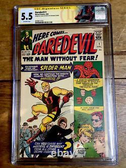 Daredevil #1 1st Appearance Daredevil 1964 Signed Stan Lee CGC SS 5.5 2078011010