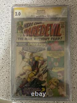 Daredevil #1 (Apr 1964, Marvel) CGC 2.0 SS Stan Lee