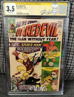 Daredevil #1 CGC 3.5 Marvel Comics SS Signature Series Stan Lee NEW STAN LABEL