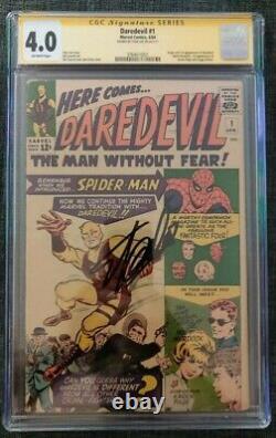 Daredevil #1 CGC 4.0 Marvel Comics SS Signature Series Stan Lee NEW LABEL