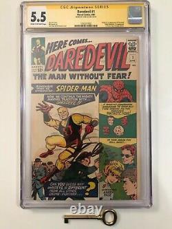 Daredevil #1 CGC 5.5 SS Signed by Stan Lee Origin & 1st Daredevil! Mega Key