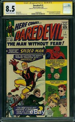 Daredevil #1 CGC 8.5 1964 Stan Lee Signature! Matt Murdock! Netflix! G11 cm