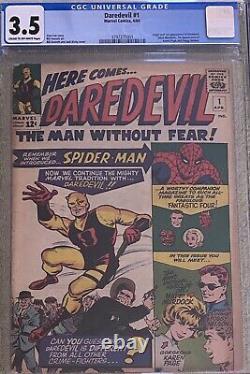 Daredevil #1 Cgc 3.5 (Apr 1964, Marvel)