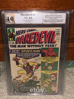 Daredevil #1 PGX 4.0 Marvel 1964 Stan Lee Signature! WP! Free CGC mylar! K10 cm