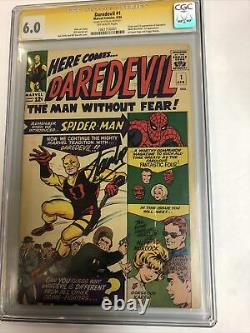Daredevil (1964) # 1 (CGC 6.0) SS By Stan Lee 1st App Never Pressed /Cleaned
