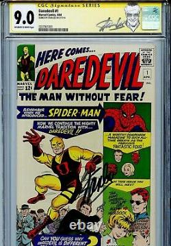 Daredevil Vol 1 1 CGC 9.0 SS Stan Lee Origin Matt Murdock 3rd highest on census