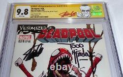 Deadpool #28 CGC SS Dual Signature Autograph STAN LEE TODD MCFARLANE Venomized