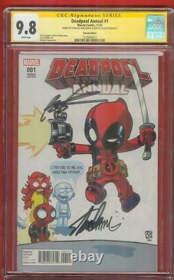 Deadpool Annual 1 CGC 3XSS 9.8 Stan Lee Rob Liefeld Skottie Young Variant Movie