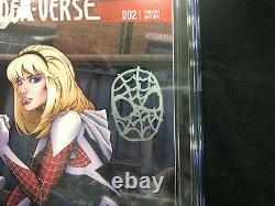 Edge of Spider Verse 2 CGC SS 9.6 Stan Lee sketch 1st Spider Gwen Land Variant