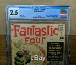 FANTASTIC FOUR #1 (Marvel 1961) by Stan Lee & Jack Kirby CGC 2.5 KEY