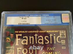 FANTASTIC FOUR 48 1st SILVER SURFER CGC 8.0 OFF-WHITE PGS