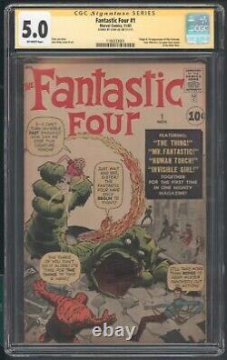 Fantastic Four 1 Cgc 5.0 SS Stan Lee 1st App Origin