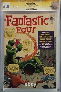 Fantastic Four #1 Cgc 5.0 Ss Signed Stan Lee Golden Record