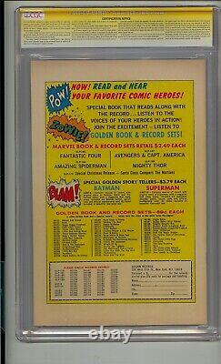 Fantastic Four #1 Cgc 7.5 Ss Signed Stan Lee Golden Record Reprint Comic Grr