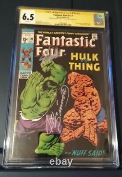 Fantastic Four #112 signed by Stan Lee & Joe Sinnott cgc 6.5, KEY, white pages