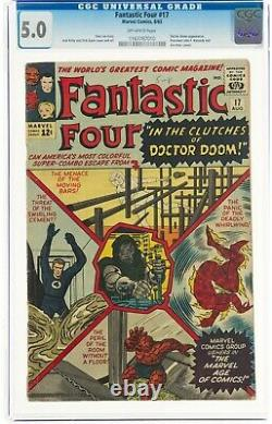 Fantastic Four #17 (Aug 1963, Marvel Comics) CGC 5.0 VG/FN Dr. Doom appearance