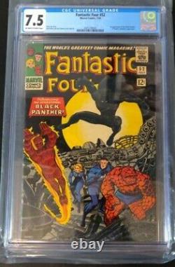 Fantastic Four (1966) #52 CGC 7.5 Marvel 1st Apperance of Black Panther Stan Lee