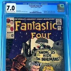 Fantastic Four #45 (Marvel 1965) CGC 7.0 1st App INHUMANS + LOCKJAW! Comic