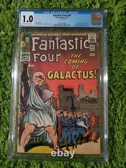 Fantastic Four 48 Cgc 1.0 3/66 1st App Of Silver Surfer & Galactus Stan Lee