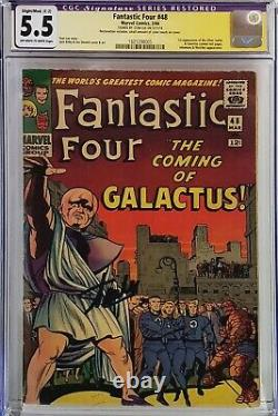 Fantastic Four #48 Cgc 5.5 Ss Signed Stan Lee 1st Silver Surfer Galactus