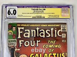 Fantastic Four 48 cgc 6.0 ss Stan Lee (restored) 1st Silver Surfer & Galactus