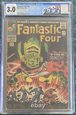 Fantastic Four #49 (1966) Cgc 3.0 Galactus & Silver Surfer! Cover Homage Label