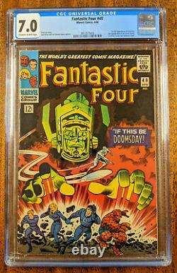 Fantastic Four #49 Comic Book (CGC 7.0 OWithW Pages) Silver Surfer Key Issue