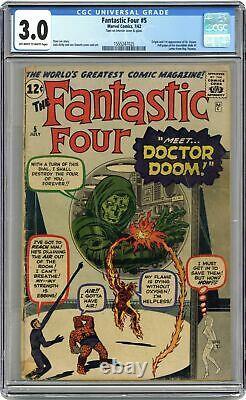 Fantastic Four #5 CGC 3.0 1962 1555247025 1st app. Doctor Doom