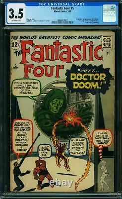 Fantastic Four 5 CGC 3.5 1st Dr. Doom