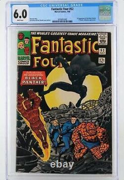 Fantastic Four #52 CGC 6.0 WHITE PAGES (Jul 1966, Marvel) (cbcs)