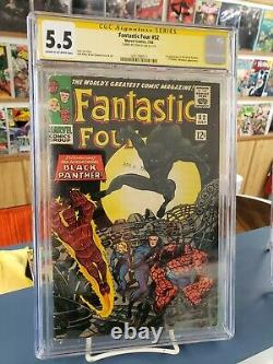 Fantastic Four #52. CGC Signature Series 5.5 Stan Lee