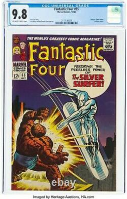 Fantastic Four #55 CGC 9.8 (ONLY 5 EXIST) Early Silver Surfer App. 1966 Marvel