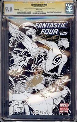 Fantastic Four 600 Sketch Variant Cgc 9.8 Ss Stan Lee Joe Quesada Joe Sinnott
