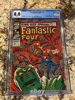 Fantastic Four Annual #6 Cgc 8.0 Rare White Pages 1st Annihilus Hot Mcu Movie